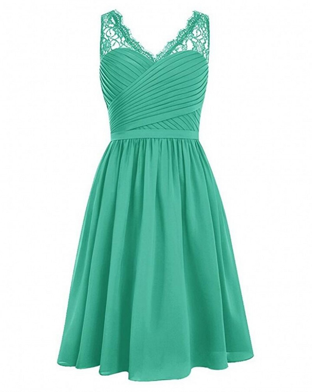 Dark Red Green Burgundy V Neck Bridesmaid Dresses Sleeveless Lace ...