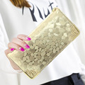 2016 New fashion Style Zipper Wallet Female stone Designer Long Clutch Wallet; Purses Women Handbags with Chain