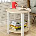 Современный минималистичный небольшой круглый стол  журнальный столик в сборке  простая гостиная  диван  стол  мини-столик для чая