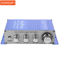 HY 2002 Profession Car Power Amplifiers Hi Fi 12V Mini Auto Stereo Amplifier Audio 2 Channel