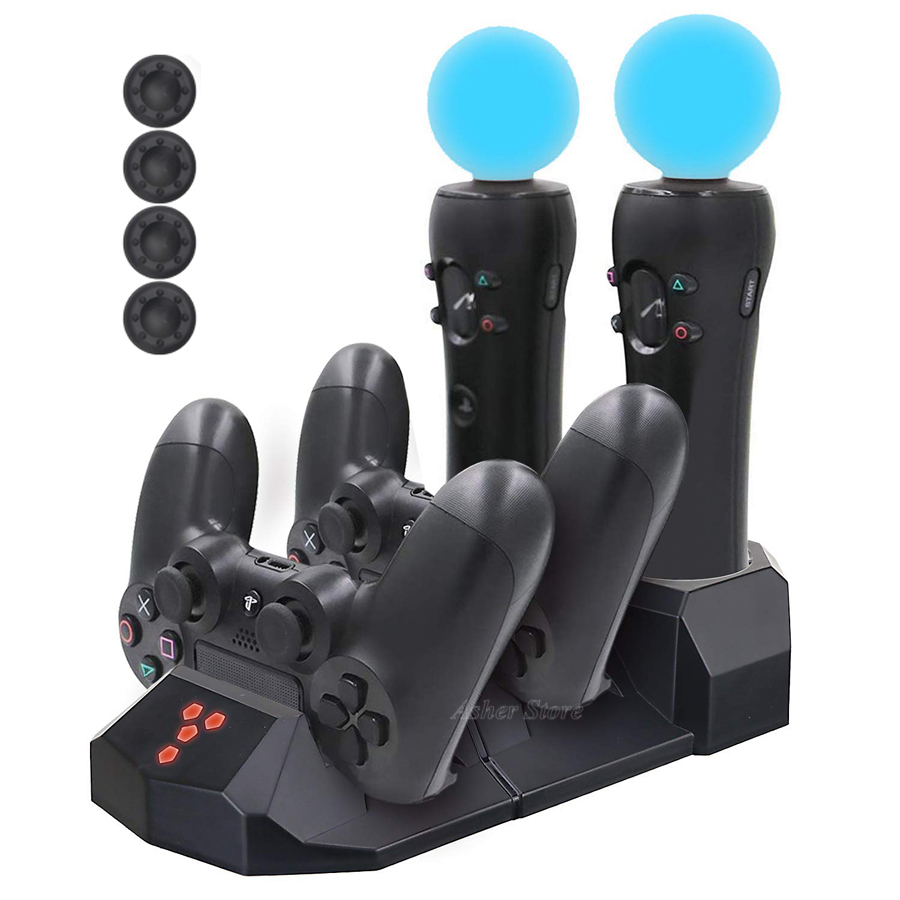 Ps4 Pro Slim Ps Vr Move Controller Charger Quick Charging Dock For Sony Playstation 4 Play Station Ps 4 Psvr Move Motion Chargers Aliexpress