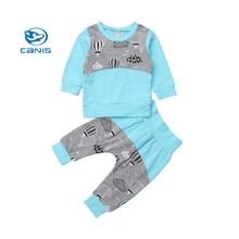 474702bcd4cf5 CANIS 2019 Casual Bébé Filles Enfants Vêtements Pour Enfants Ensemble  Pyjamas De Nuit Haut Pantalon De Nuit ROYAUME-UNI
