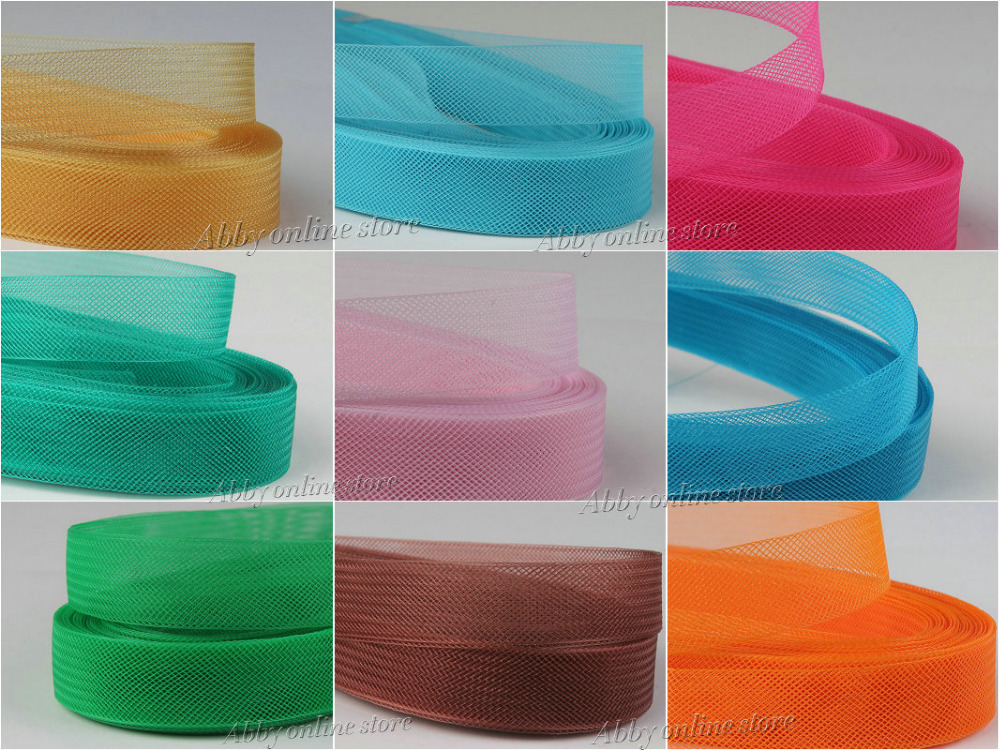 1pcs Soft Hair Horse  Mesh Braid  Polyester Mesh Fabric Flat Plain Crin Ribbon For Crafts,Women Diy Hat #33Color Various Sizes