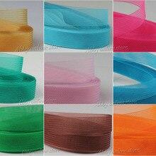1 шт., мягкая прядь, Конская сетка, плетеная полиэфирная сетчатая ткань, плоская простая кроликовая лента для рукоделия, женская шляпа#33 разных размеров