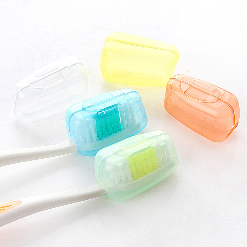 5pcs Creative Outdoor Travel Toothbrush Cover Dust-proof Wash Brush Cap Case Toothbrushes Head Portable Box image