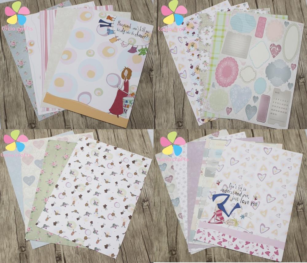 Lucia crafts a4 random 5pcs diy scrapbook paper crafts for Random diys