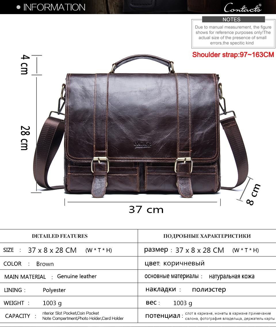 HTB1imyctrGYBuNjy0Foq6AiBFXaW CONTACT'S men's briefcase genuine leather business handbag laptop casual large shoulder bag vintage messenger bags luxury bolsas