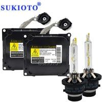 SUKIOTO Original Xenon kit D4S 55W 5500K Fast Bright 35W d4s xenon ballast Kit 85967 51050 d4s for toyota lexus headlights HID