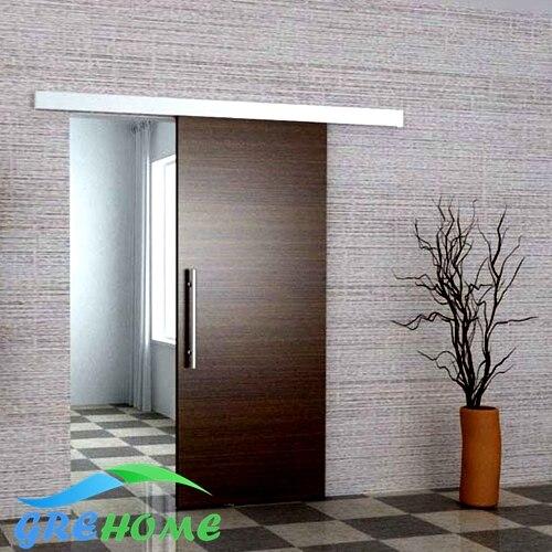 6.6 ft Aluminium alloy barn sliding door hardware aluminium alloy frameless barn sliding glass door system