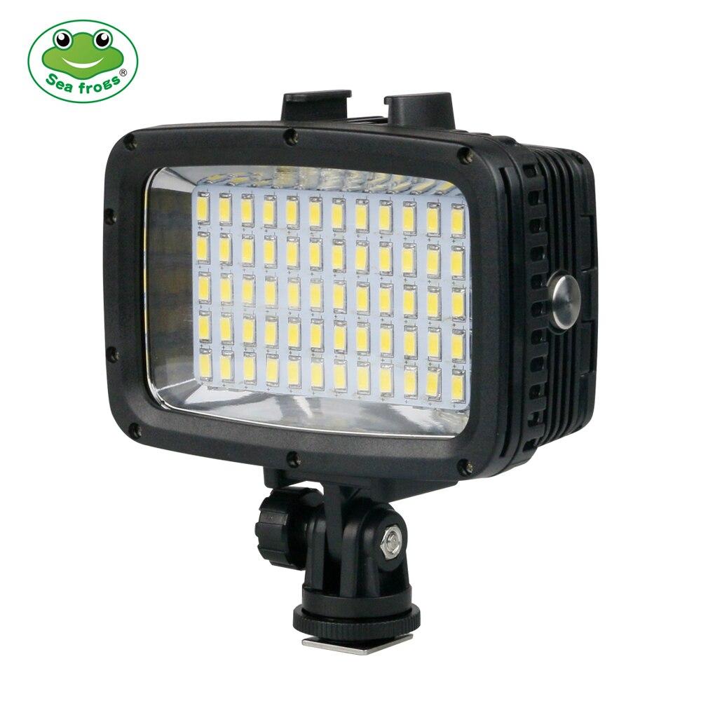 Appareil photo étanche portable Flash lumière sous-marine 40m plongée photographie remplir lumière 1800LM batterie Rechargeable appareil photo accessoire