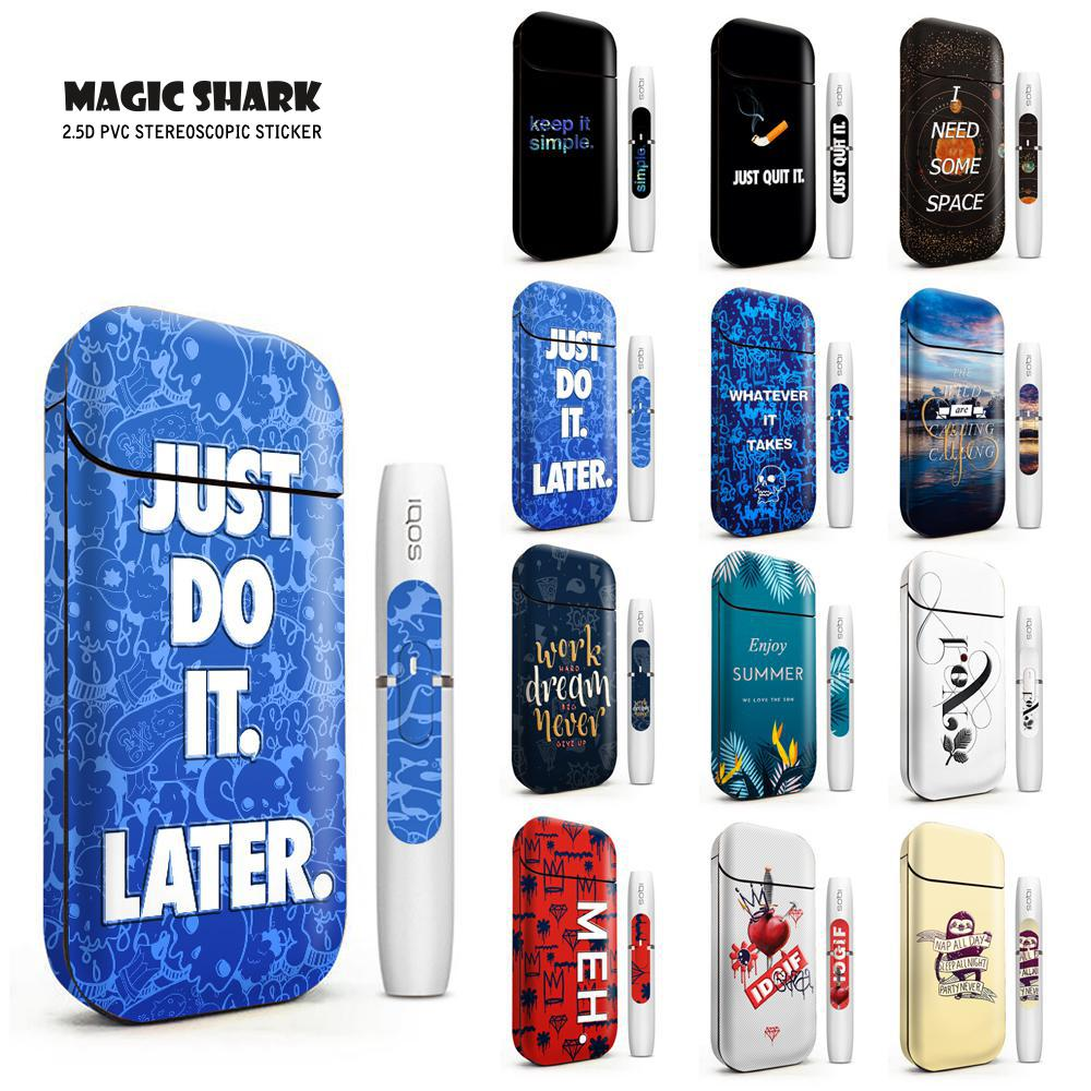 Magic Shark I NEED SOME SPACE Bumpy Sticker Skin For IQOS 2.4 Plus 2.4p Electronic Cigarette Case Cover Protector Film