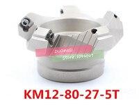 KM12 80-27-5T 45도 숄더 페이스 밀 헤드 CNC 밀링 커터  밀링 커터 공구  초경 인서트 SEHT1204