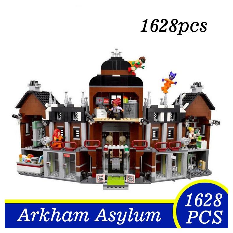 07055 Marvel Super Heroes Batman Movie Arkham Asylum Building Blocks Bricks Toys Gifts for Children Lepin 70912 1628Pcs