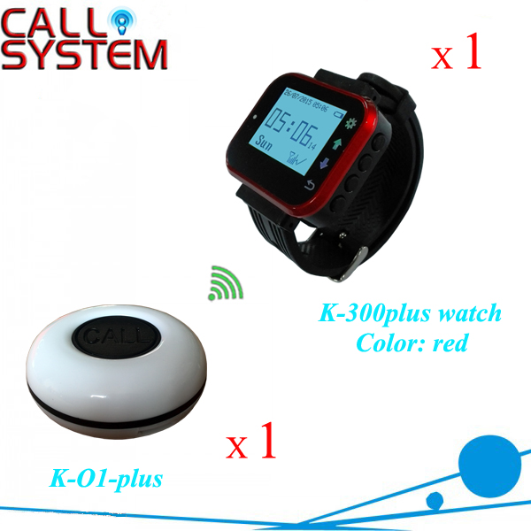 Wireless service bells button system 1 watch 1 buzzer for sample test wireless service call bell system popular in restaurant ce passed 433 92mhz full equipment watch pager 1 watch 7 call button