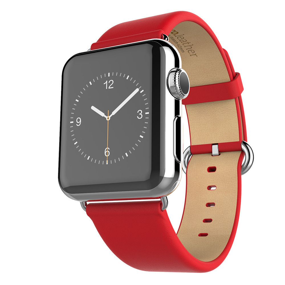 Image 3 - HOCO New Genuine Leather Band For Apple Watch 4 2 1 First Layer Leather Strap Compatible With Apple Watch 44MM 40MM 42MM 38MM-in Watchbands from Watches