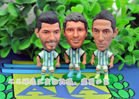 5pc Set World Cup Argentina ARG Football Soccer Player Star Collection Doll Dolls Toys AGUERO DI