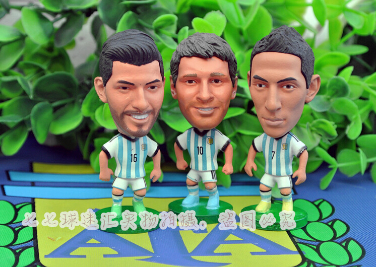 4pc/set world cup Argentina ARG football soccer player star collection doll dolls toys MESSI ZANETTI Dybala Higuain soccer figurine football stars competition classic brazil cup world cup model toy action figure ornament dolls collectible gift