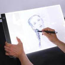 A3 световая витрина с регулируемой яркостью светодиодный световой короб цифровой графический планшет электронная картина доска для рисования калькирование, копирование плиты Pad