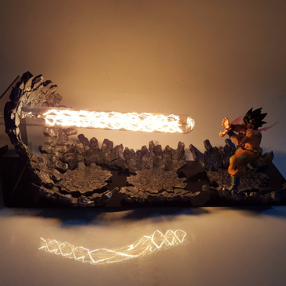 Dragon Ball Z Goku Triple Kaiouken BRICOLAGE LED Veilleuses L'anime Dragon Ball Z DBZ Led Table Lampe Fils goku Figurine Poupée