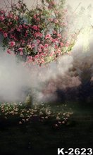 Oil Painted Dream Fantasy Forest Backgrounds Shoot Custom 5x7ft Flowers Photo Backdrops Couples/Wedding Digital Background Cloth