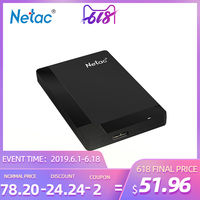 Netac K218 USB 3.0 HDD 1TB 2TB Flash Drive 2.5 inch Portable External Hard Disk LED Drive for Windows Mac system 5400RPM