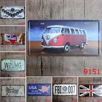 15*30cm America FBI 007 Car Metal License Plate Vintage Tin Sign For Bar Cafe Pub Club Garage Home Wall Decor Poster Plaque