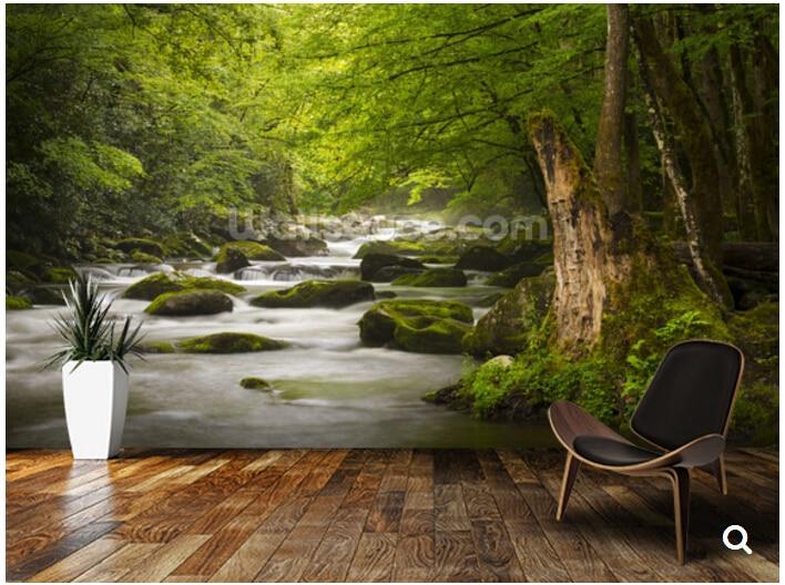 ᐅCustom natuurlijke landschap behang, Geweldig Smoky Bergen Tremont ...