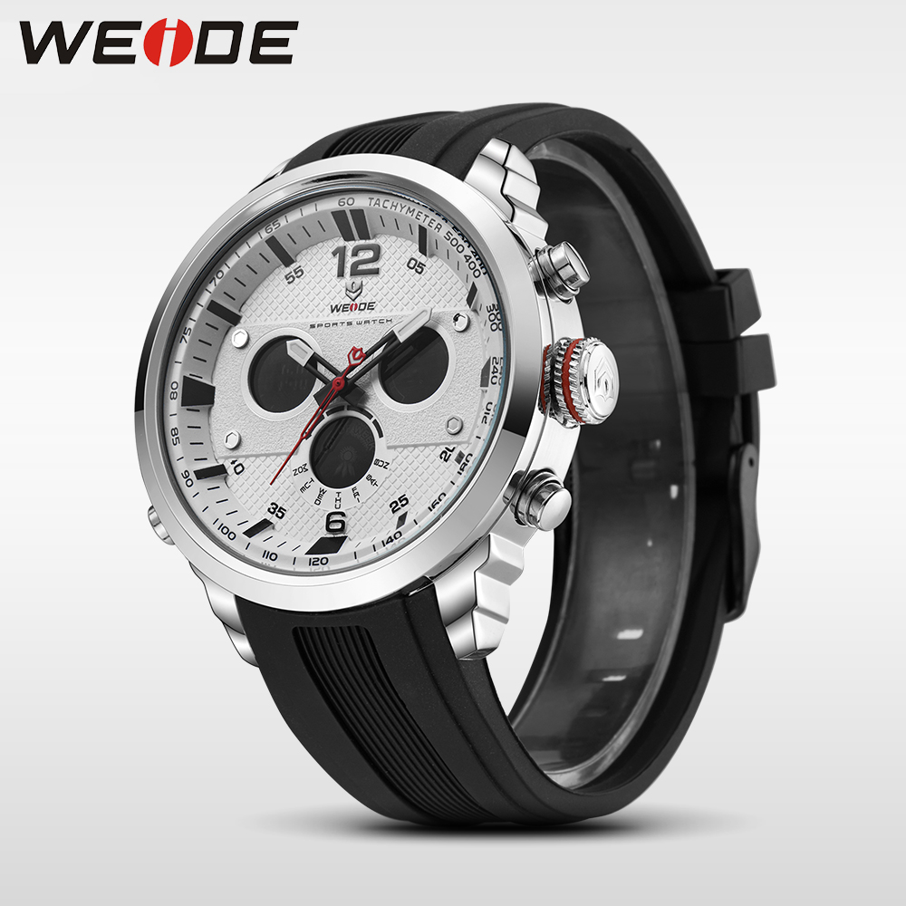 WEIDE LCD men watch sport digital luxury brand white  quartz watches water resistant erkek kol saati fashion casual alarm clock weide popular brand new fashion digital led watch men waterproof sport watches man white dial stainless steel relogio masculino