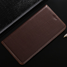High Quality Genuine Leather Cover For Xiaomi Redmi Note 4 4X Classic Magnetic Flip Stand Phone Case + Free Gift