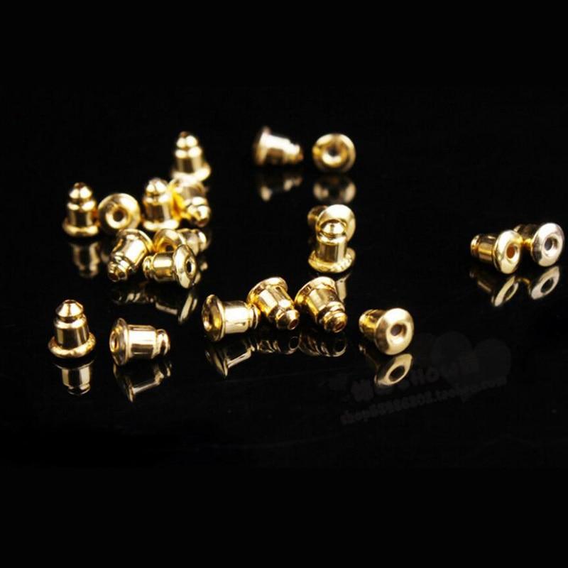 500 x Earring Backs Stoppers Findings Ear Post Nuts Jewelry Findings Gold//Silver