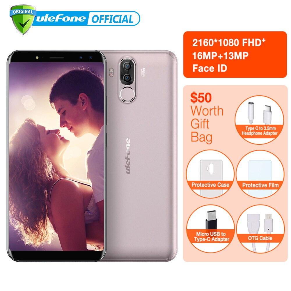 """Ulefone Мощность 3 S 6.0 """"18:9 FHD + мобильный телефон mtk6763 Octa core android 7.1 4 ГБ + 64 ГБ 16mp 4 Камера 6350 мАч Уход за кожей лица ID 4 г смартфон"""