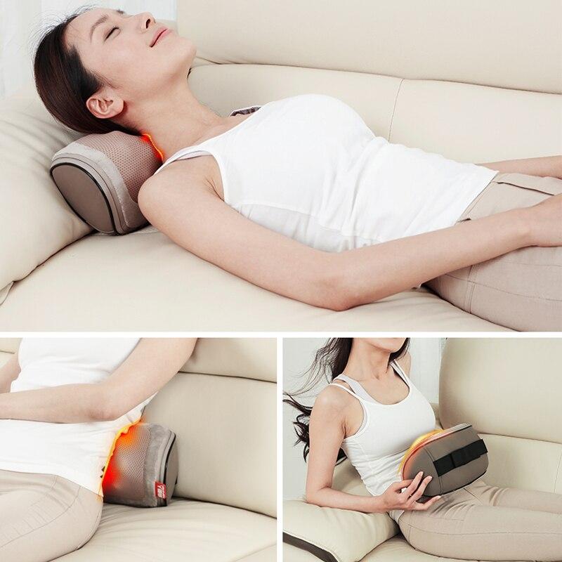 Pescoço Massageador Shiatsu Cervical Travesseiro de Massagem Elétrica Multifuncional Massagem Travesseiro Carro Para Casa Frete Grátis - 5