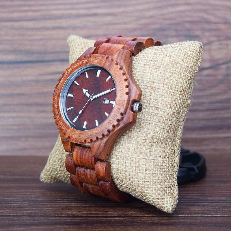 Red Sandalwood Watches Japan Quartz wood watch B17 (4)