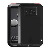 Huawei Mate 10 Case Shockproof Metal Aluminum Carbon Fiber Glass Full Body Protect Phone Armor Huawei