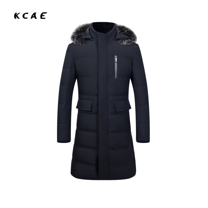 New long men's cotton high-quality men's long section of the collar jacket men kneel collar fox fur collar jacket men 185 190 the quality of accreditation standards for distance learning