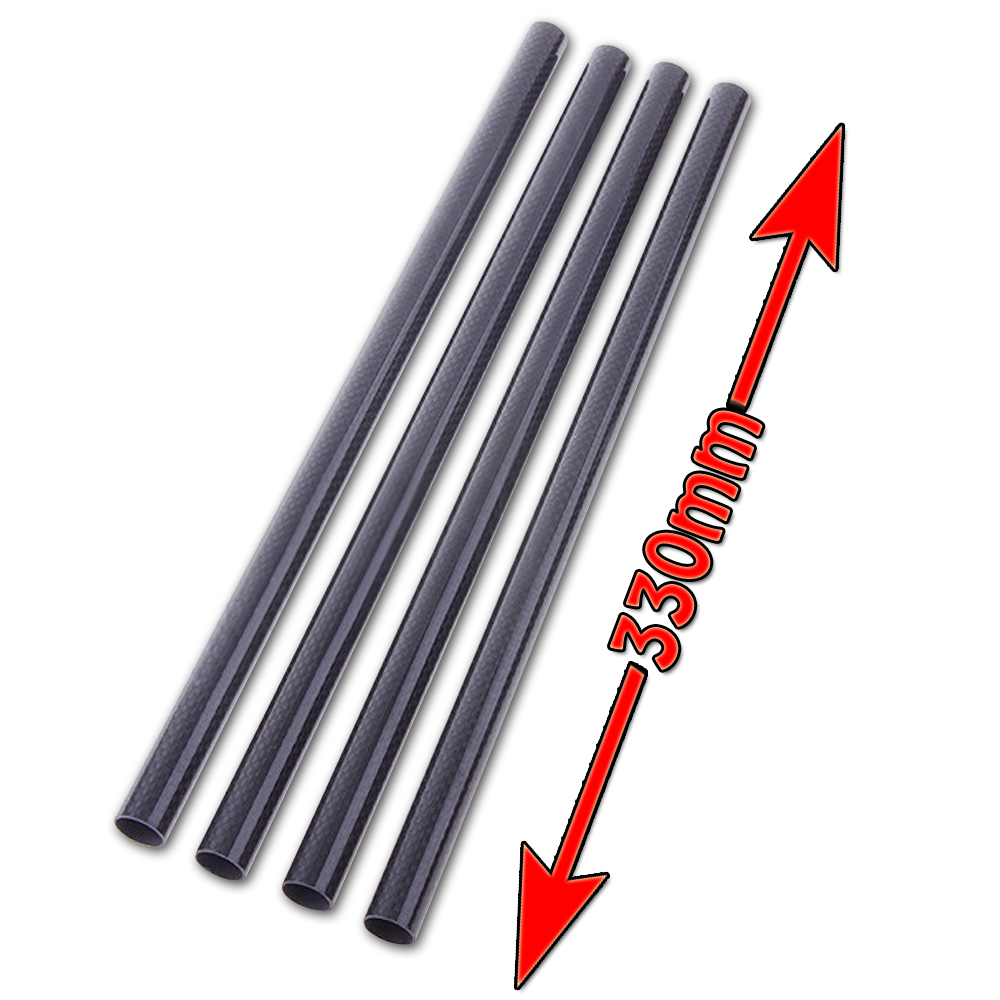 4 Pcs/Lot Carbon Fiber Tube 3K 16mm Diameter 330mm Long for Quadcopter Multicoptor 3d принтер wanhao i3 mini