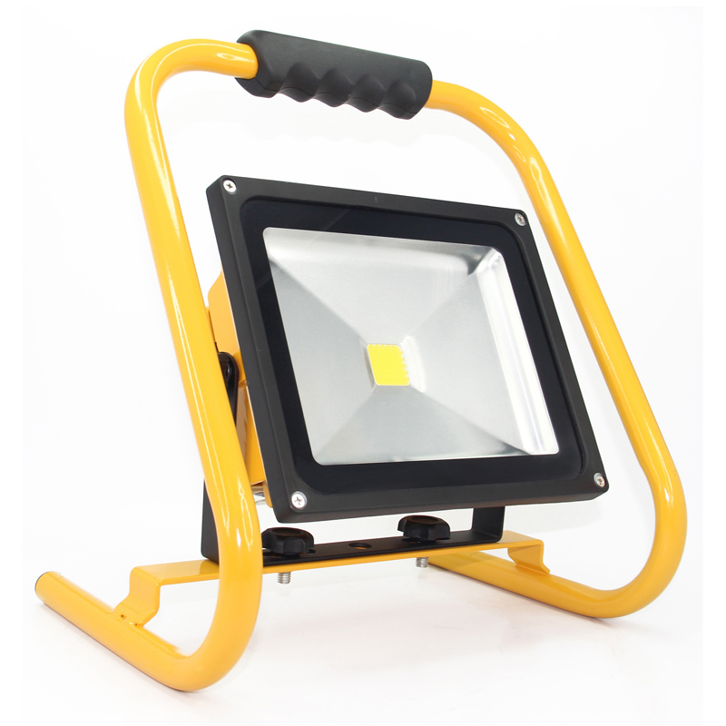 Led reflector flood light rechargeable 30w portable led work light led reflector flood light rechargeable 30w portable led work light outdoor spotlight eclairage exterieur 8800mah battery charger in floodlights from lights aloadofball Images