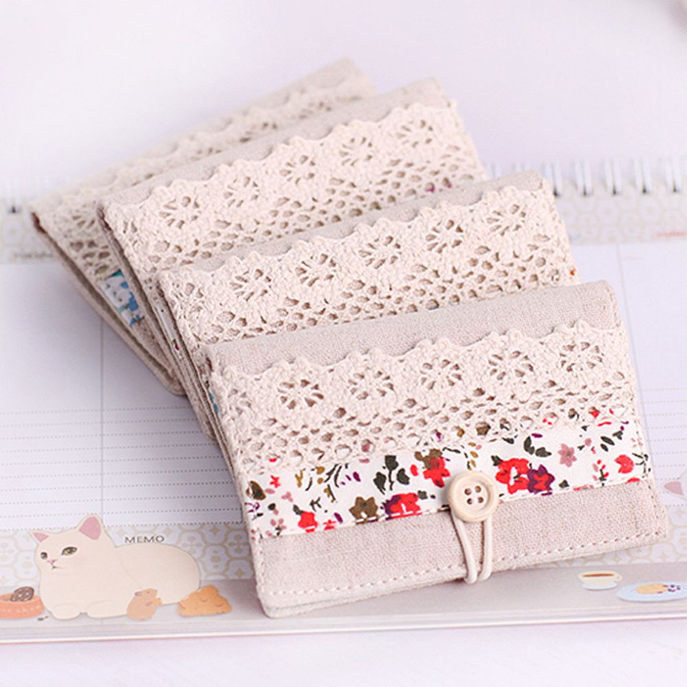 Women Floral Credit Card Id Card Case Purse Holder Pouch Coin Organizer Wallet Lace Multi-card Bit Brand New And High Quality