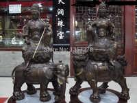 Shitou 00299 cobre Bronce Manjusri Samantabhadra Bodhisattva GuanYin Kwan Yin estatua de Buda