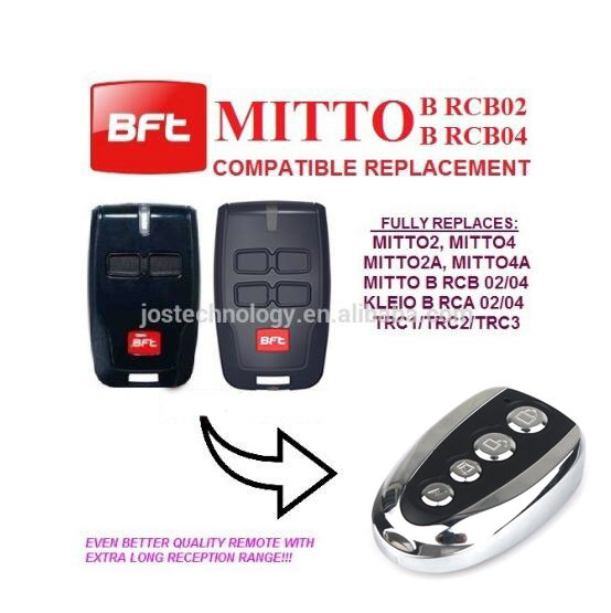 For BFT Mitto RCB02 RCB04 garage door remote control bft mitto 02 04 rcb02 rcb04 garage door opener remote control replacement 433mhz rolling code
