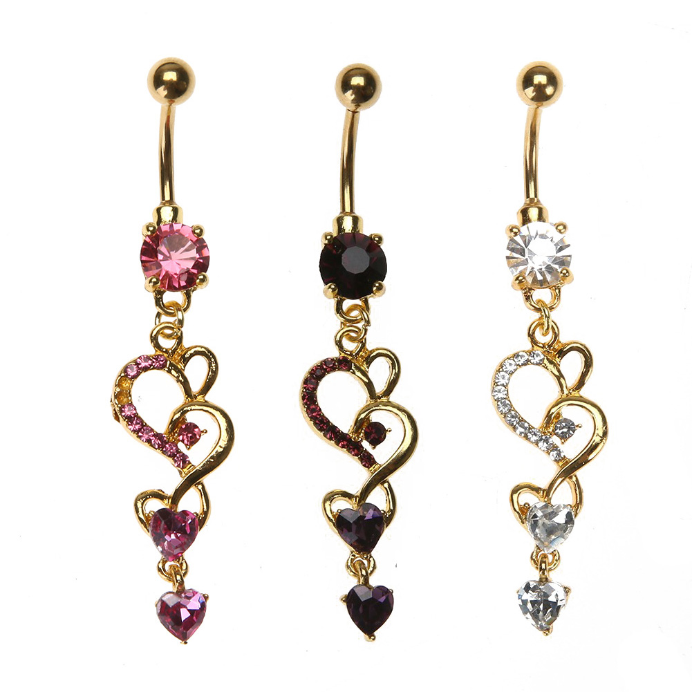 Jewelry amp watches gt fashion jewelry gt body jewelry gt body piercing - Heart Crystal Shinny Body Piercing Dangle Heart Piercing Nombril Fashion Navel Belly Rings 2017 New