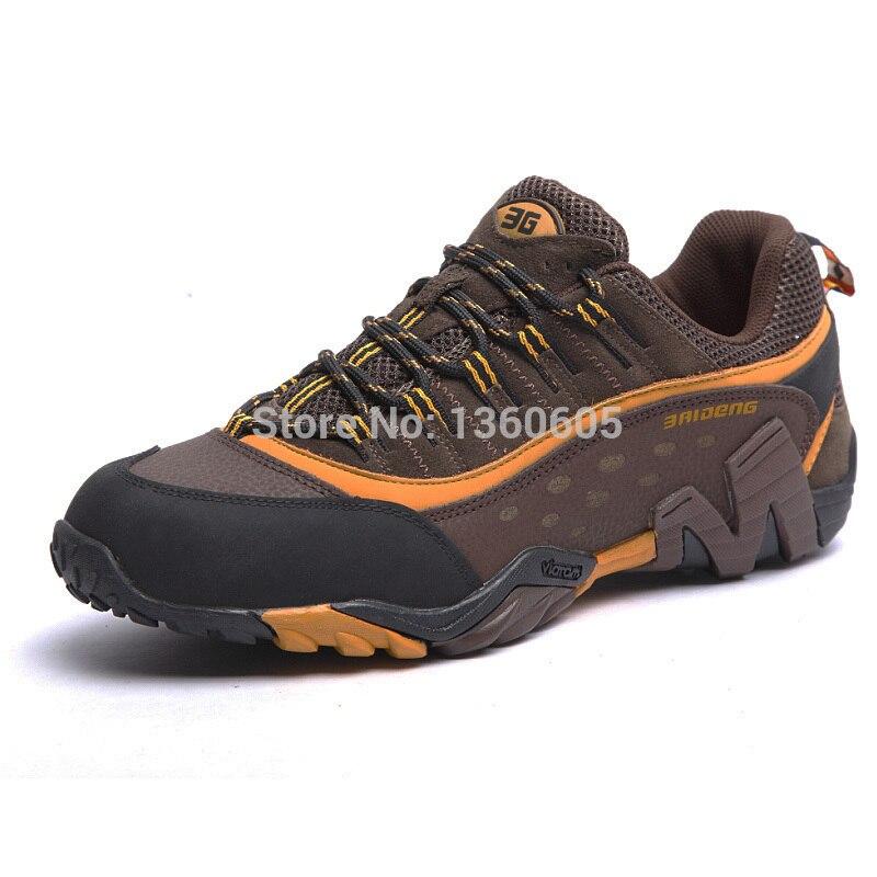Hommes chaussures de randonnée en plein air imperméable respirant chasse chaussures de trekking marque en cuir véritable sport escalade chaussures de randonnée baskets - 3