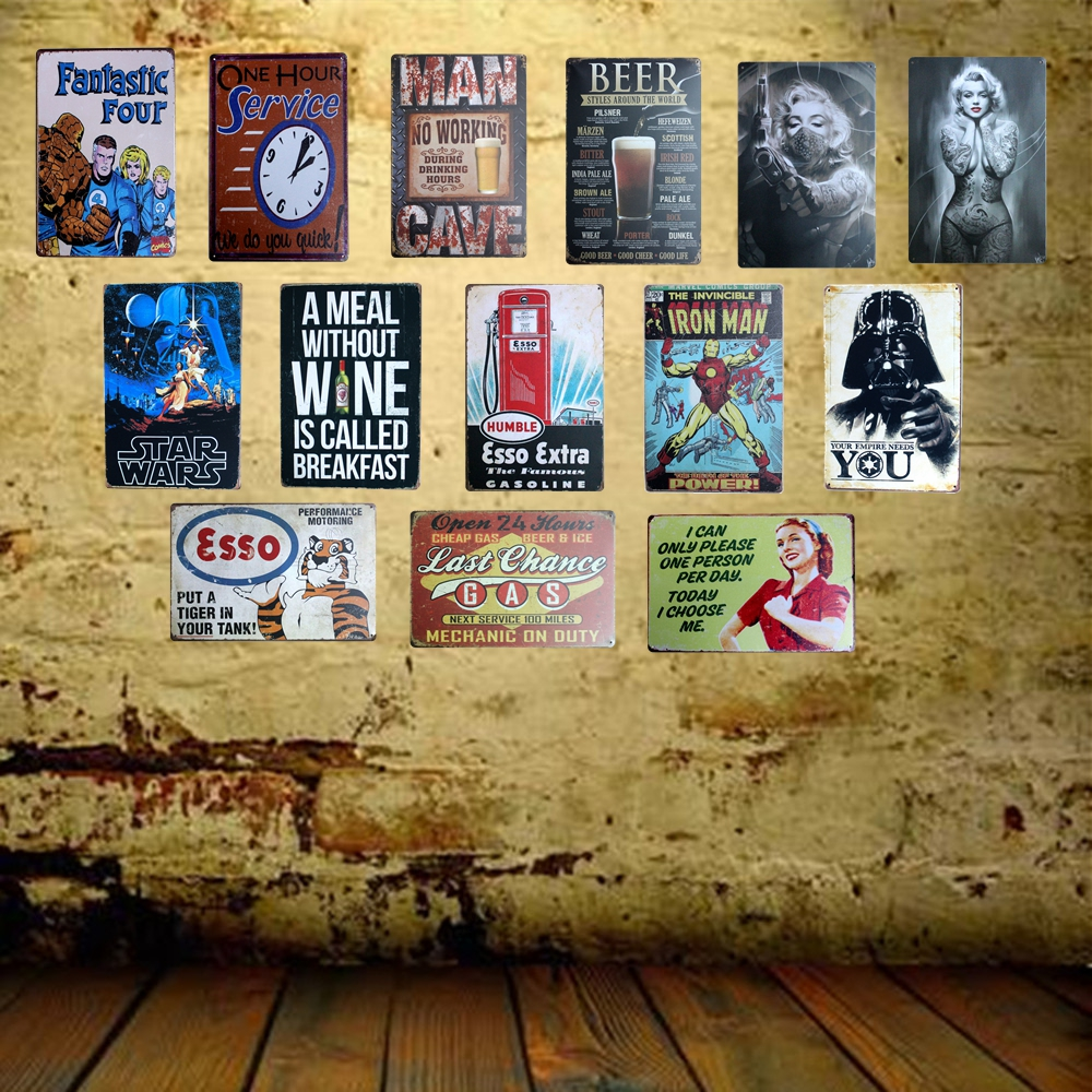[ Mike86 ] YOUR EMPIRE NEEDS YOU Retro Metal Tin Sign decor Home Bar Party Wall Funny Movie Poster Painting Gift 20*30 CM AA-474
