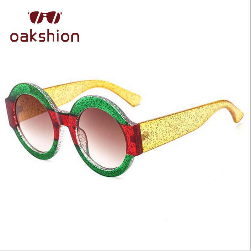 2018 Mulheres óculos de Sol Da Moda de Luxo Cristal Strass Rodada Steampunk Óculos De Sol Armação de Plástico Doces Claro Lentes Shades eyewear