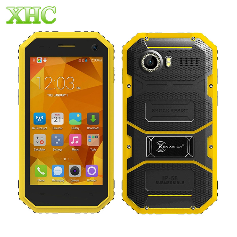 KEN XIN DA Proofing W6 4G LTE Smart Phone ROM 8GB IP68 Waterproof 4 5 inch