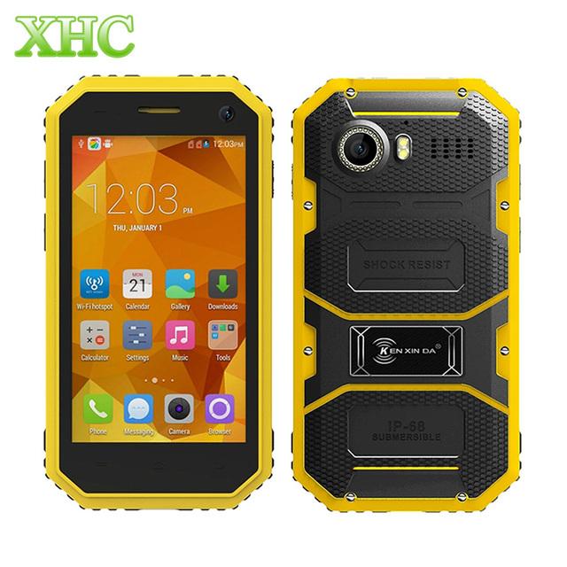 Ken xin da pruebas w6 4g lte fdd móvil 8 gb ip68 a prueba de agua de 4.5 pulgadas Andriod 5.1 MTK6735 Quad Core RAM 1 GB Teléfono Células