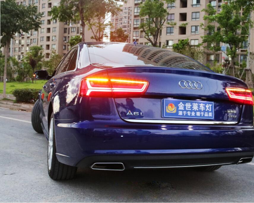 A6L A6 2012-2016 fanali posteriori, C7, accessori per auto, A6L faro, LED a6l Fanale posteriore A LED, A6L Lampada orecchie di Certa fanale posteriore Dell'automobile