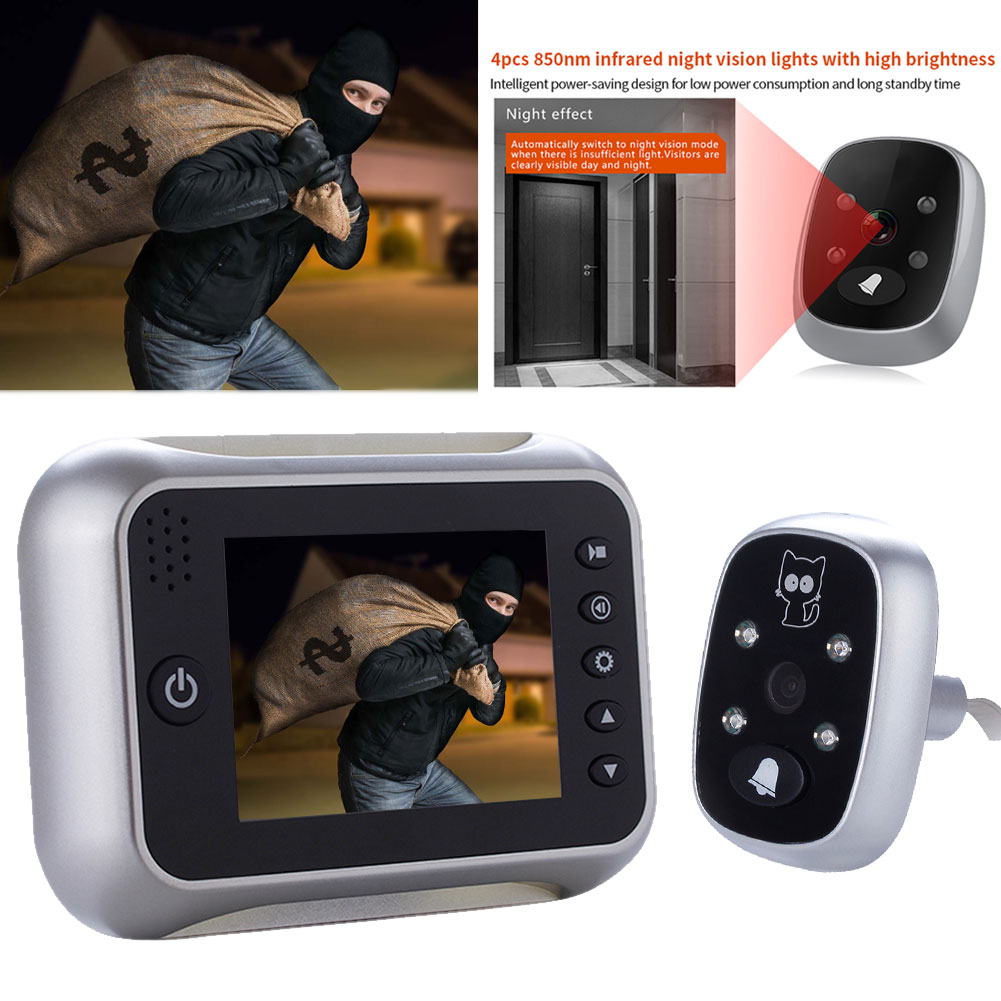 Electronic Wireless Video Voice Doorbell Night Vision Wide Angle Long Standby HD Doorbell LCC77Electronic Wireless Video Voice Doorbell Night Vision Wide Angle Long Standby HD Doorbell LCC77