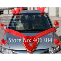 1 set/lot Heart shape wedding car Artificial flowers red wedding rose flower wedding house decoration decorative flowers wreath