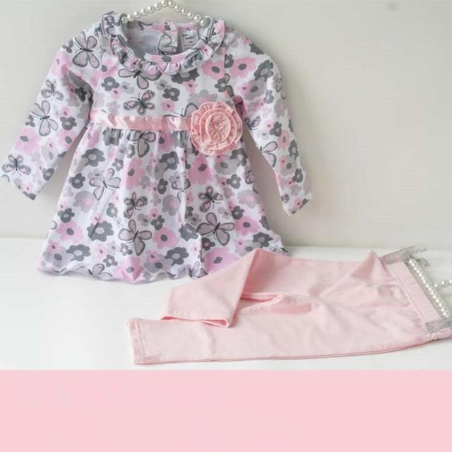 Baby Girl Floral Clothes Set  Toddler Cotton Suit Kids Girl Outfits Spring Tracksuit Infant Clothing